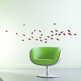 Whirlwind of Leaves-Bordeaux Wall Decal