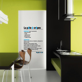 Definition Crepes-Medium-Black Autocollant mural