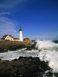 Lighthouse on Coastline Photographic Print by Cody Wood