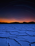 Star Trails Over Salt Pan Photographic Print by Bill Ross
