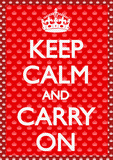 Keep Calm-Carry On Stampe