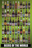 Øl fra hele verden, på engelsk Plakater