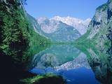 Lake 'Obersee' and ' Watzmann' mountain, Bavaria, Berchtesgarden, Germany Photographic Print by Herbert Kehrer
