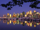 Vancouver and Lost Lagoon at Night Photographic Print by Ron Watts