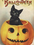 A Merry Halloween Photographic Print by Ellen H. Clapsaddle