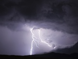 Lightning Strike Photographic Print by Martin Harvey