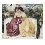 Sappho and Erinna in the Garden Mytelene Giclee Print by Simeon Solomon