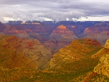 Clouds Over Grand Canyon and Buttes Stampa fotografica di John Eastcott & Yva Momatiuk