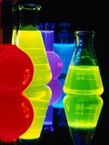 Laser Dyes in Flasks Photographic Print by Charles O'Rear