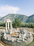 Tholos of the Athena Pronaia in Delphi, Greece Fotografisk tryk af Rainer Hackenberg