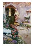 In the Garden Gicléetryck av David Woodlock