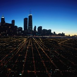 Chicago Skyline at Twilight Photographic Print by Bill Ross