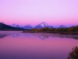 Mount Moran Rises Above Snake River Reproduction photographique par Ron Watts