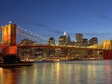 Brooklyn Bridge and East River Photographic Print by Alan Schein