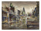 Street Lights Giclee Print by LaVere Hutchings
