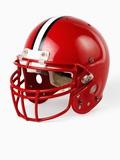 Football Helmet Fotografie-Druck von Randy Faris