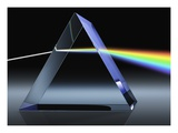 Light Beam Through Glass Prism Giclee Print by Matthias Kulka