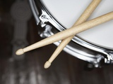Snare Drum and Drumsticks Premium fotoprint van Roy McMahon