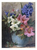A Vase of Azaleas and Hyacinth Giclée-tryk af Charles Henry Slater