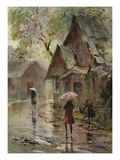 Down Pour Giclee Print by LaVere Hutchings