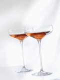 Two Glasses of Rose Wine Photographic Print by Andrew Brookes