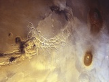 Arcuate Graben System of Noctis Labyrinthus on Mars Fotografie-Druck von Michael Benson