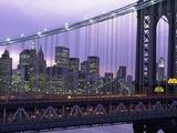 Manhattan Bridge and Skyline Fotografisk trykk av Rudy Sulgan