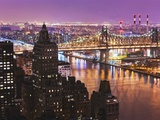 Queensborough Bridge and Roosevelt Island at Twilight Reproduction photographique par Rudy Sulgan
