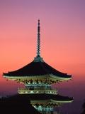 Kiyomizu Temple at Sunset Fotoprint van Tibor Bognár