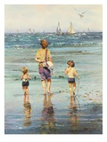 A Day at the Beach Giclee Print by LaVere Hutchings