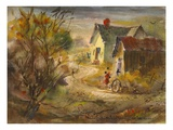 The Old Farm Giclee Print by LaVere Hutchings