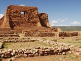 Mission Ruins at Pecos National Monument Reproduction photographique par Nik Wheeler