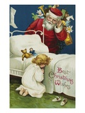 Best Christmas Wishes Giclee Print by Ellen H. Clapsaddle