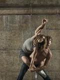 Man and Woman Dancing Together Fotografisk tryk af Patrik Giardino
