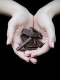 Handful of Dark Chocolate Fotografisk tryk af Elisa Lazo De Valdez
