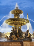 Fountain at The Place de la Concorde Reproduction photographique par Rudy Sulgan