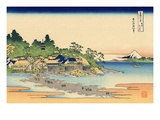 Enoshima in Sagami Province Giclee-trykk av Katsushika Hokusai