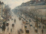 The Boulevard Montmartre on a Winter Morning Fotoprint av Camille Pissarro