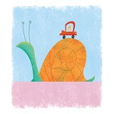 Man driving as slow as a snail Giclee Print by Harry Briggs
