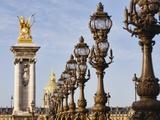 Pont Alexandre-III and Dome des Invalides Fotografisk trykk av Rudy Sulgan