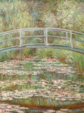Bridge over a Pond of Water Lilies Giclee Print by Claude Monet