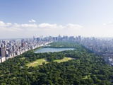 Aerial View of Central Park Toile tendue sur châssis par Cameron Davidson