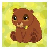 Anime Bear Cub Giclee Print by Harry Briggs