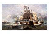 A Naval Engagement Giclée-Druck von Francois Musin
