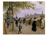 On the Banks of the River Seine Reproduction procédé giclée par Jean Béraud