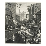 Gin Lane Giclee Print by William Hogarth