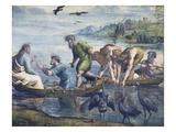 Cartoon for The Miraculous Draught of Fishes Reproduction procédé giclée par  Raphael