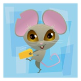 Anime Mouse Giclee Print by Harry Briggs