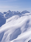 Skiers in Whistler Back Country, Coast Mountains, British Columbia, Canada. Photographic Print by Randy Lincks