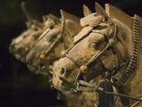 Terra cotta horse chariot, Emperor Qin Shihuangdi's Tomb, Xian, Shaanxi, China Photographic Print by Keren Su